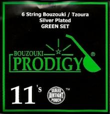 PRODIGY Green Σετ Χορδές 6χορδου Μπουζουκιού